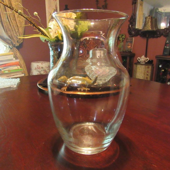 Vintage Other - Vintage Small Fluted Clear Smooth Glass Vase